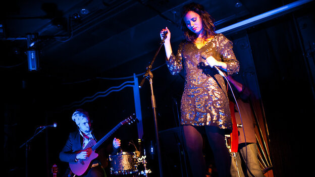 Mayra Andrade performs during globalFEST at New York City's Webster Hall on Jan. 8.