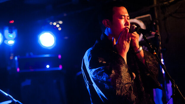 Wang Li performs during globalFEST at New York City's Webster Hall on Jan. 8.