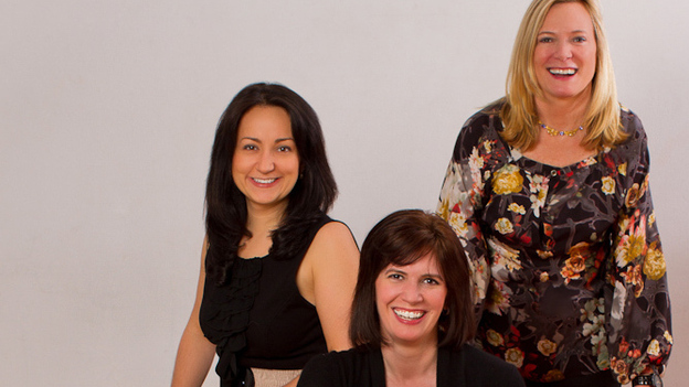 The founders of startup accelerator Women Innovate Mobile (clockwise from top right: Deborah Jackson, Kelly Hoey and Veronika Sonsev) aim to boost the profile of tech companies founded by women.  (Courtesy Women Innovate Mobile)