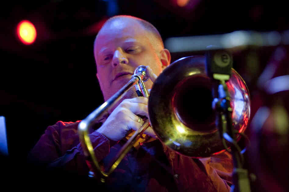 Trombonist Curtis Hasselbring started the festival at Le Poisson Rouge with his band, the New Mellow Edwards.