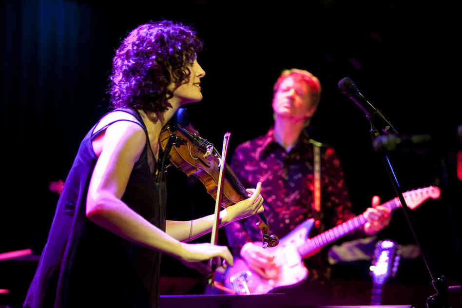 Jenny Scheinman led her own band Mischief and Mayhem, featuring guitarist Nels Cline, at Le Poisson Rouge.