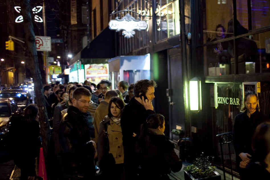 The line outside Zinc Bar, a small cellar venue, frequently wrapped around the block.