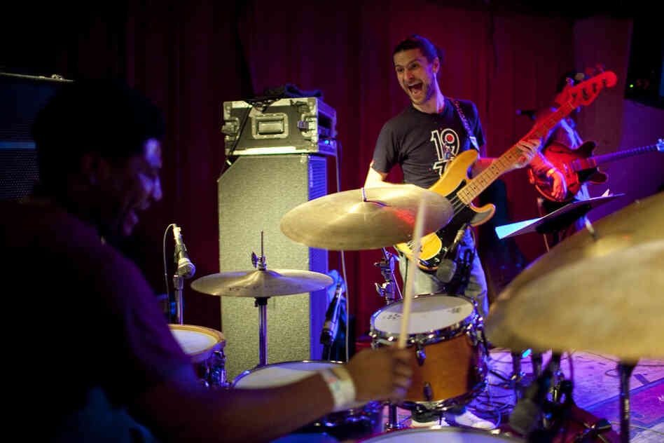 Drummer Justin Brown led a band at Sullivan Hall as part of a Revive Music-curated lineup on Saturday night.