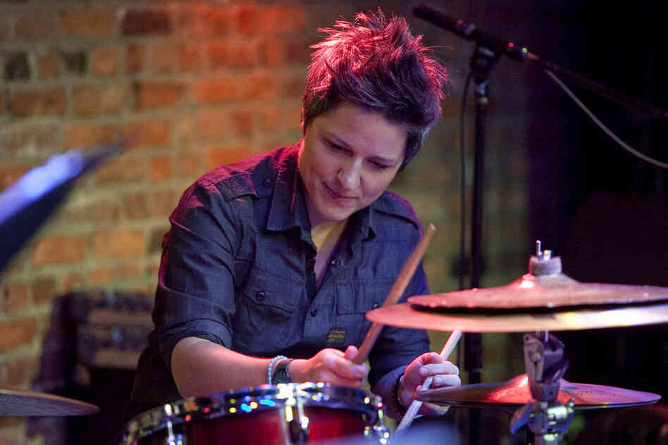 Drummer Allison Miller led her band Boom Tic Boom at The Bitter End.