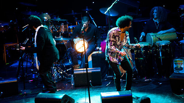 Yemen Blues performs during globalFEST at New York City's Webster Hall on Jan. 8.