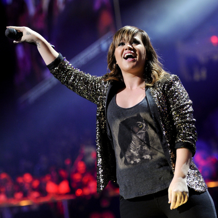 Singer Kelly Clarkson took some heat from fans for endorsing Ron Paul. Clarkson's shown here performing at at Madison Square Garden on Friday, Dec. 9, 2011 in New York.