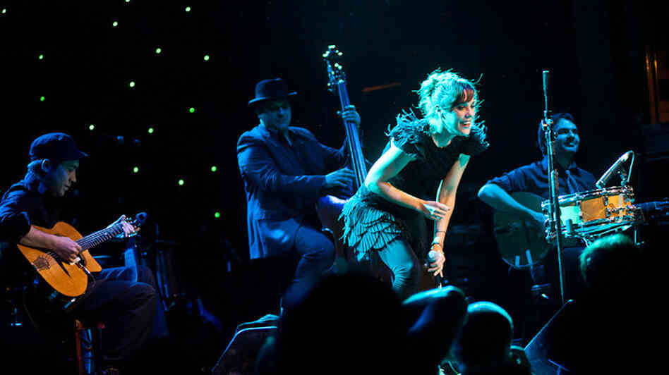 Zaz performs during globalFEST at New York City's Webster Hall on Jan. 8.