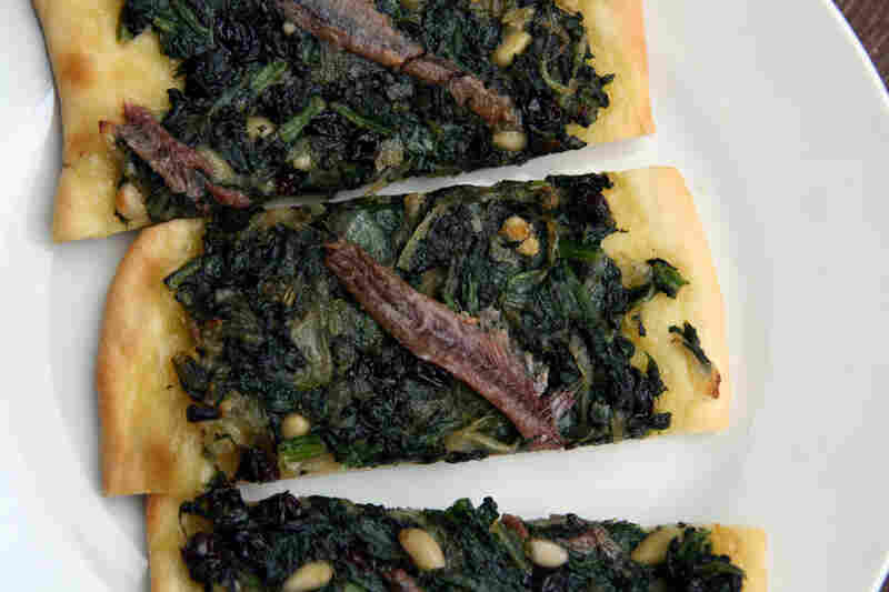 Coca With Catalonian Spinach And Anchovies