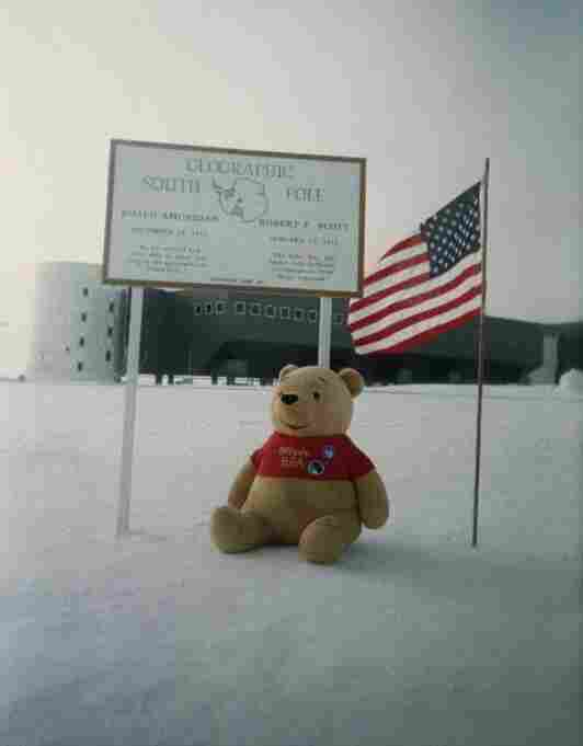 This photo was taken with disposable camera No. 59, which traveled all the way to the South Pole.