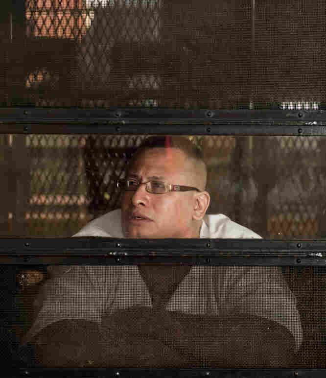 John Chris Hernandez listens to The Prison Show from his cell at the Eastham Unit penitentiary in East Texas. Hernandez is currently serving a life sentence for murder.