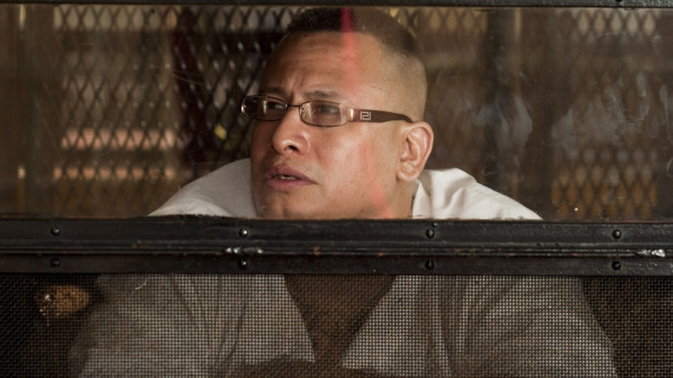 John Chris Hernandez listens to The Prison Show from his cell at the Eastham Unit penitentiary in East Texas. Hernandez is currently serving a life sentence for murder.  (for NPR)