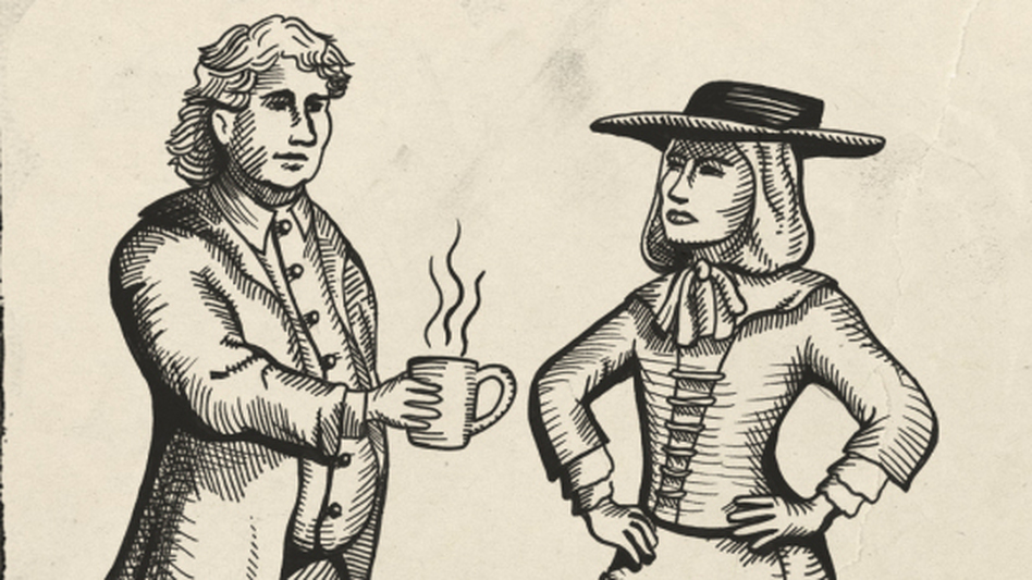 The male response in defense of coffee was just as heavy-handed and, predictably, even more lewd. (NPR)