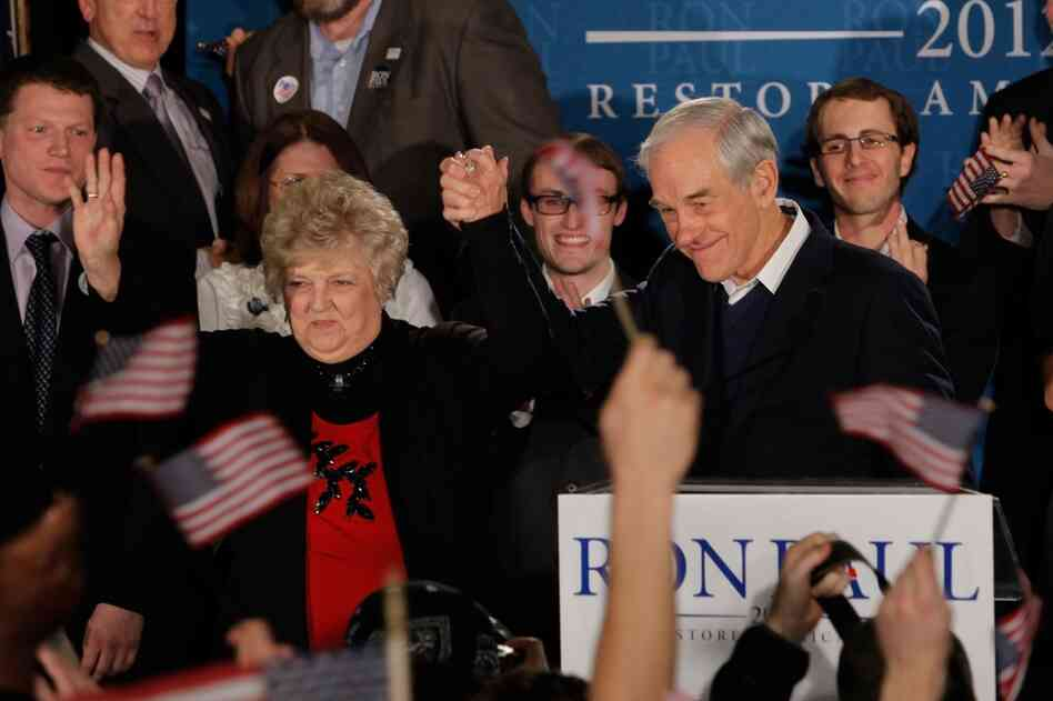 Ron Paul and his wife