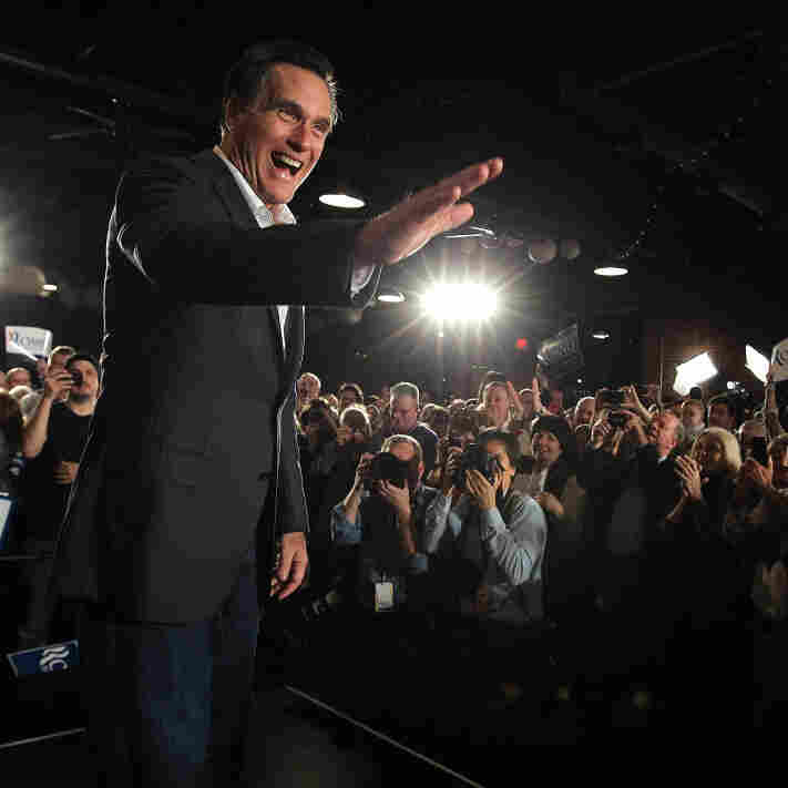 Republican presidential hopeful Mitt Romney greets supporters during a campaign rally in Columbia, S.C., on Wednesday.