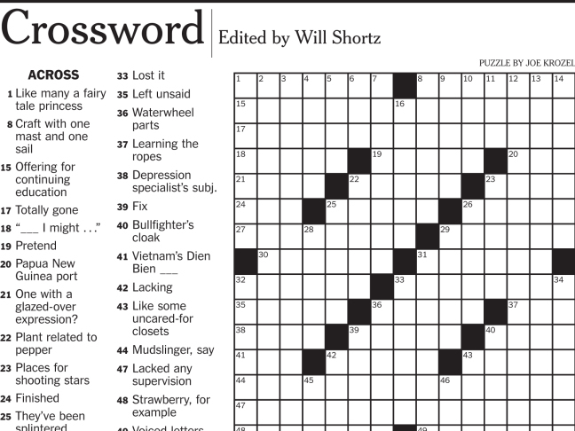 Beef erupts over crossword gurus hip hop slang clue ncpr news a new york times crossword puzzle clue asking for a 5 letter word that means wack in hip hop led to an email and an argument over the real meaning of spiritdancerdesigns Gallery