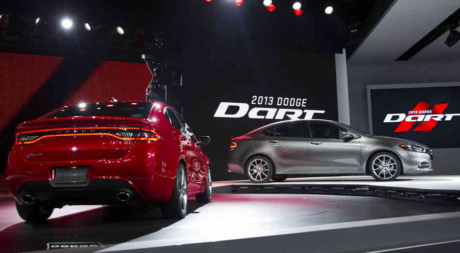 Dodge unveiled its 2013 Dart at the North American International Auto Show in Detroit this week. The original Dart was in production from 1960-76. This time around, it's being built on a modified platform of one of Fiat's Alfa Romeos. After a 2009 merger between the struggling Ch