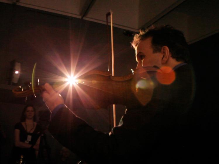 Andrea Echeverri: Gil Shaham: A Violinist's Day At The Museum : NPR