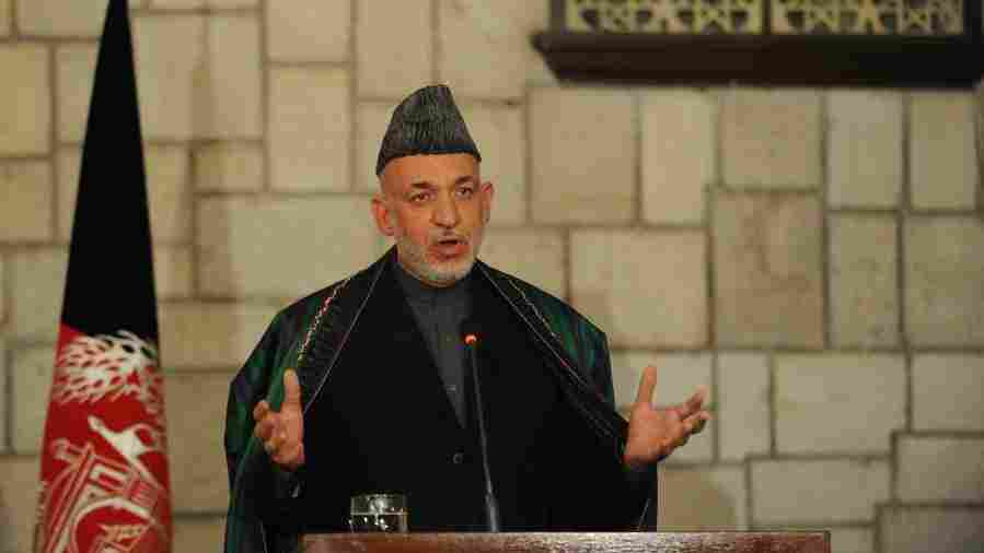 Afghan President Hamid Karzai, shown here during a press conference with U.S. Defense Secretary Leon Panetta in Kabul last month, has become increasingly combative toward the U.S. recently.