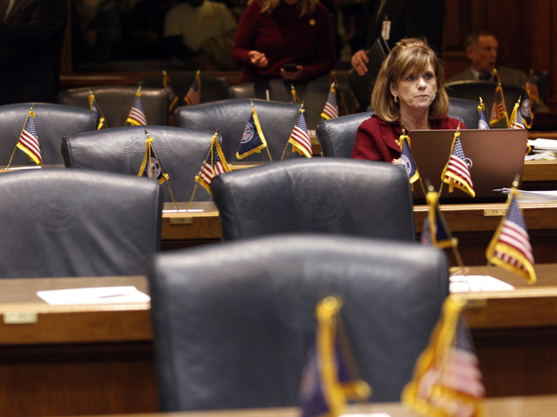 Indiana state Rep. Peggy Welsh is one of a few Democrats who occupied her House seat last week when Democrats tried to prevent a vote on a bill that would make Indiana a right-to-work state.