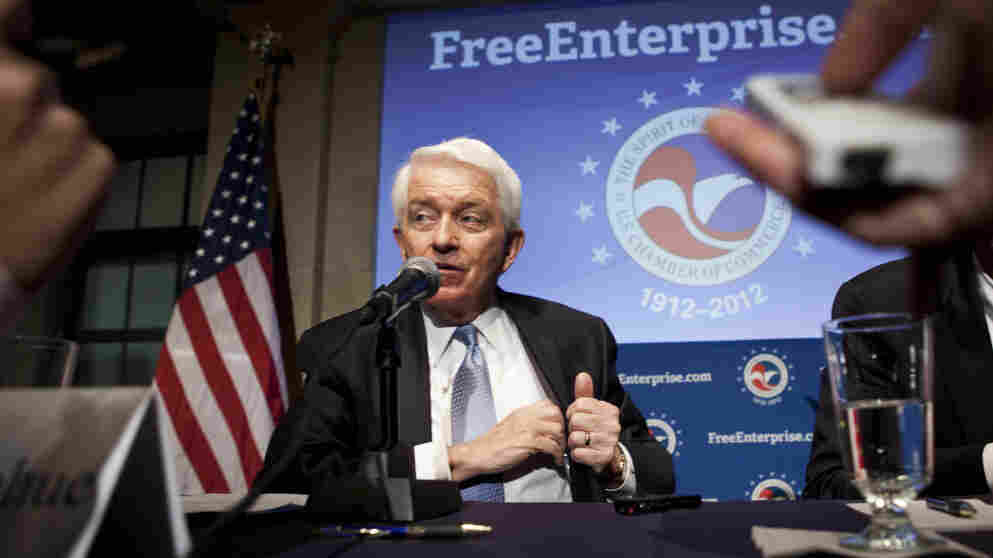 U.S. Chamber of Commerce President Tom Donohue at a press conference Thursday in Washington.