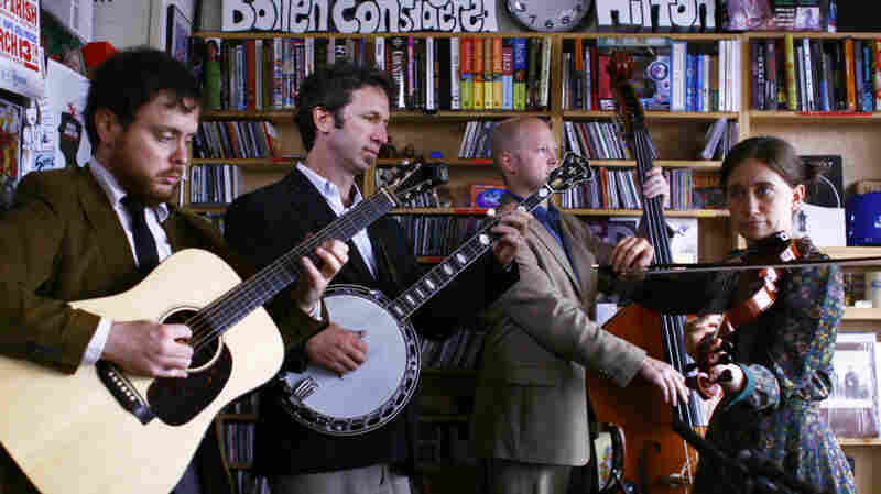 Jake Schepps and Expedition Quartet perform at the Tiny Desk Concert on Oct. 12, 2011.