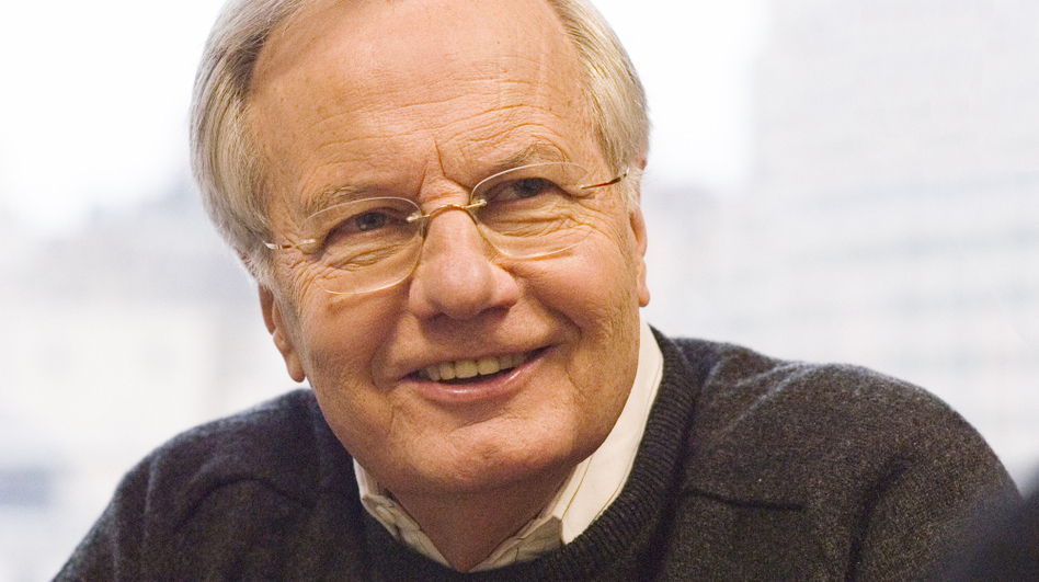 Bill Moyers began his career in journalism as a junior reporter at the Marshall News Messenger in Marshall, Texas.  (©Peter Krogh)