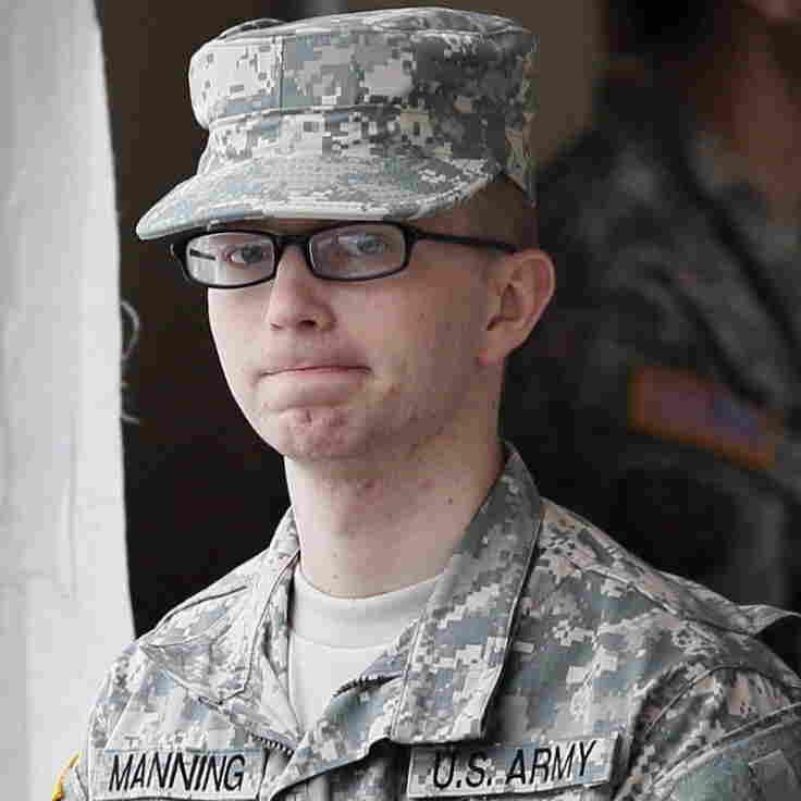 Army Pvt. Bradley Manning last month.