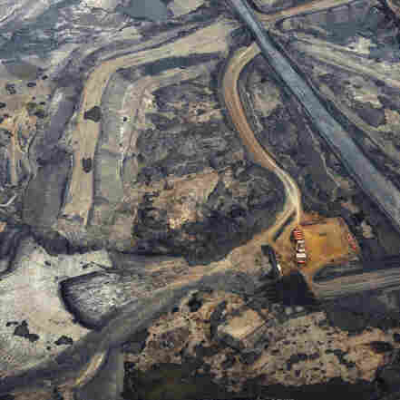 The Syncrude tar sands mine north of Fort McMurray, Alberta, is seen in November. Alberta's tar sands would supply the oil for the prospective Keystone XL pipeline.