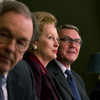 Meryl Streep (center) stars as Margaret Thatcher in Phyllida Lloyd's biopic about the former prime minister of the United Kingdom.