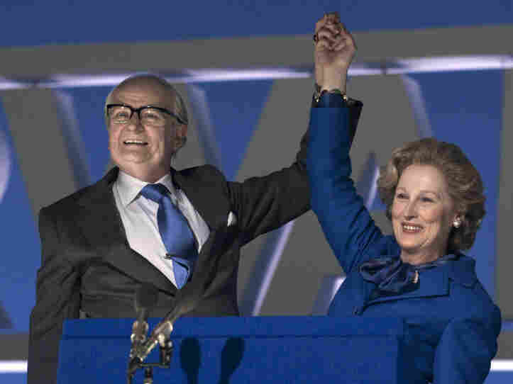 Streep plays Margaret Thatcher — and Jim Broadbent her supportive husband, Denis — in The Iron Lady.
