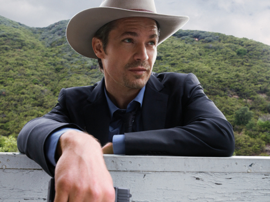 Timothy Olyphant plays Raylan Givens, a present-day U.S. marshal with Wild West inclinations on the FX series <em>Justified</em>. (Mark Seliger/FX)