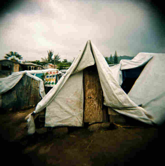 Some of these photos were taken around a tent community in Peguyville, Port-au-Prince.