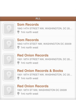Two trips to Som, three to Red Onion: The Vinyl District app's suggestions for record stores near NPR in D.C.