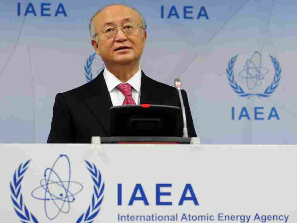 International Atomic Energy Agency (IAEA) Director-General Yukio Amano gives a press conference on Nov. 17, 2011. A report by the IAEA has been at the center of discussions about Iran's nuclear technology.