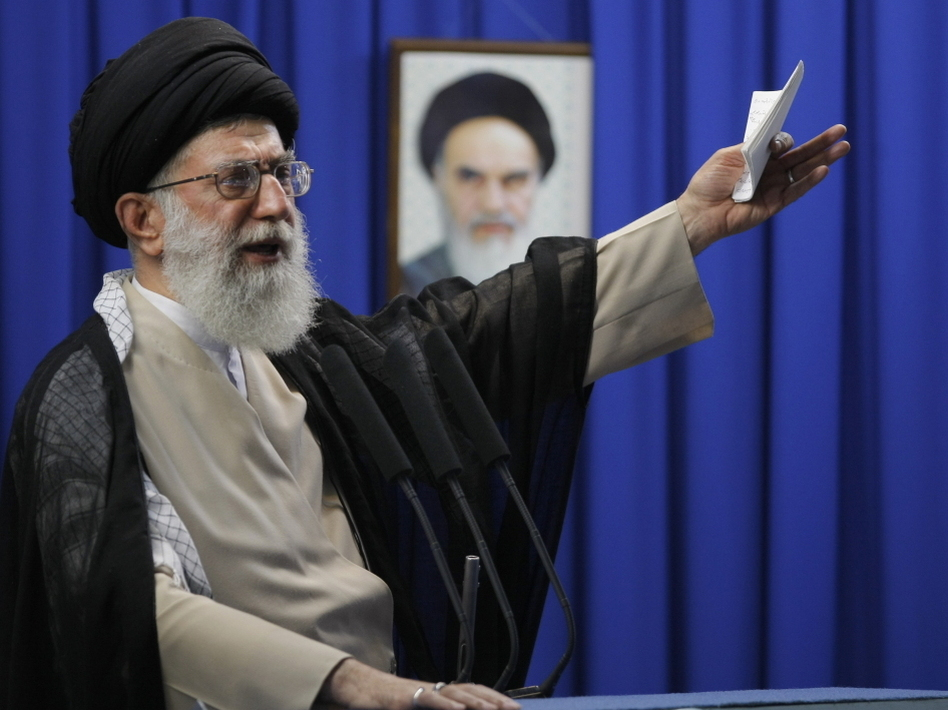 Ayatollah Ali Khamenei, Iran's supreme leader. He's reportedly been sent a message.