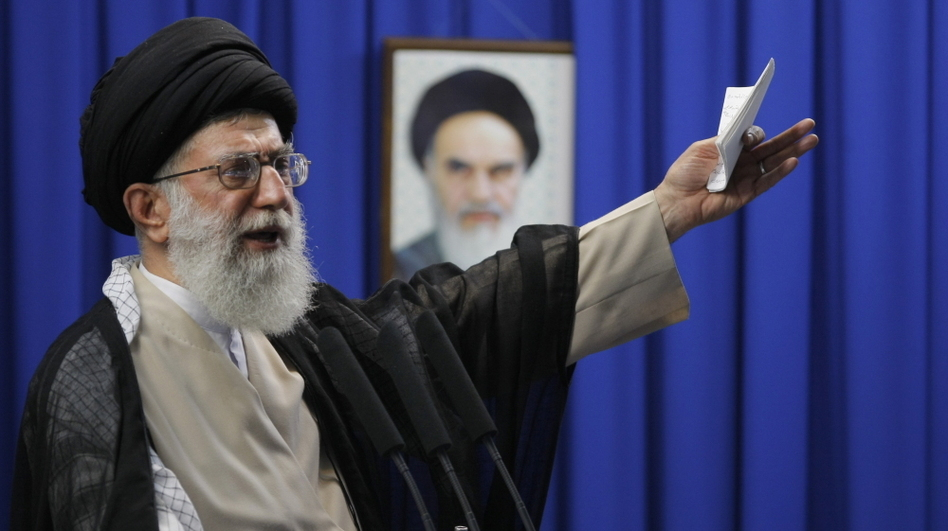 Ayatollah Ali Khamenei, Iran's supreme leader. He's reportedly been sent a message. (AFP/Getty Images)