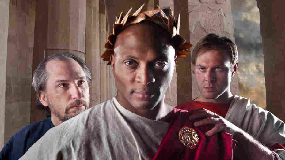 Eddie George, a former professional football player, plays the title role in the Nashville Shakespeare Festival's production of Julius Caesar.