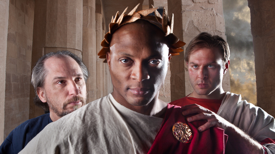 Eddie George, a former professional football player, plays the title role in the Nashville Shakespeare Festival's production of <em>Julius Caesar</em>.