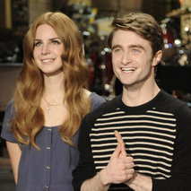 Lana Del Rey and Daniel Radcliffe appear on this weekend's Saturday Night Live, along with cast member Kenan Thompson.
