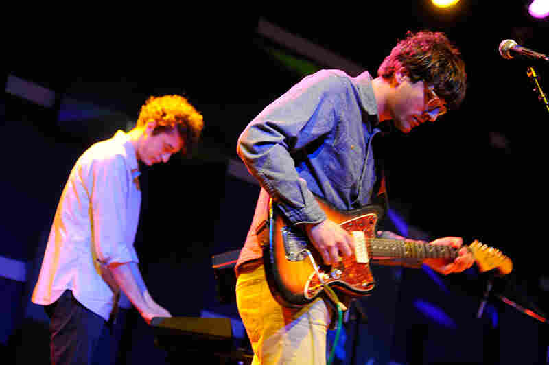 Real Estate guitarist Matt Mondanile (right) also records as Ducktails.