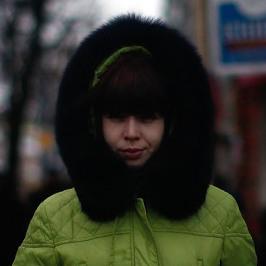 A street scene in Ekaterinburg, Russia.