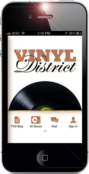 The Vinyl District app's start-up page