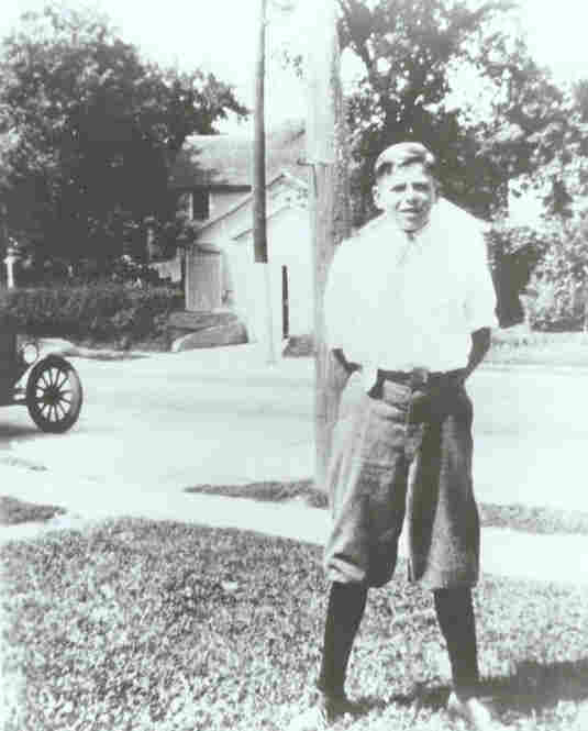 Ronald Reagan in Dixon, Ill., in the 1920s. Born in Tampico, Ill. in 1911, Reagan went on to serve two terms as governor of California and two terms as president of the United States.
