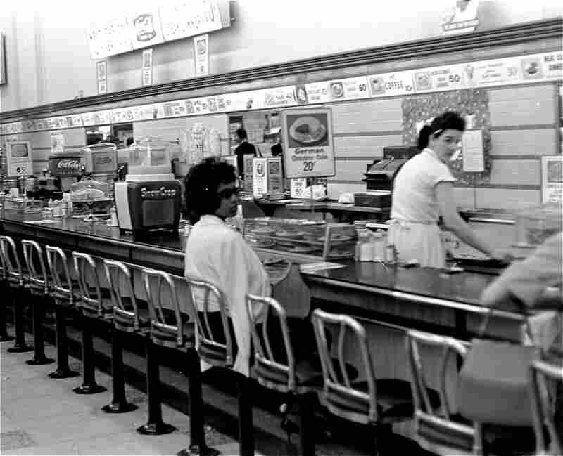 Black college student Dorothy Bell, 19, of Birmingham, Ala., waits in a downtown Birmingham lunch counter for service that never came, April 4, 1963.  She was arrested with 20 others in sit-in attempts.