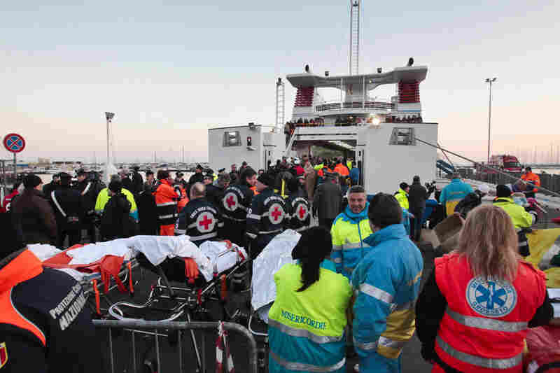 Survivors were transported by ferry to Porto Santo Stefano, Italy. At least two of the missing passengers are American.