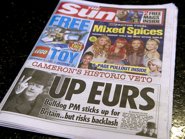 British tabloids such as The Sun are known for being brash, cheeky and salacious. (AFP/Getty Images)