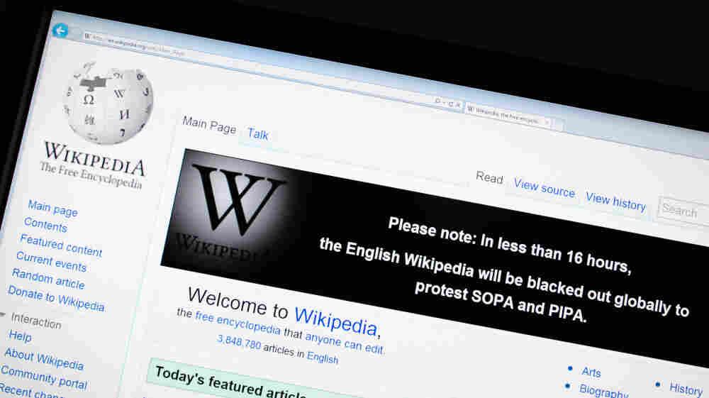 The online encyclopedia Wikipedia on Jan. 17.