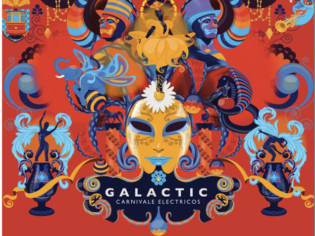 Cover art for the new Galactic album,'Carnivale Electricos'
