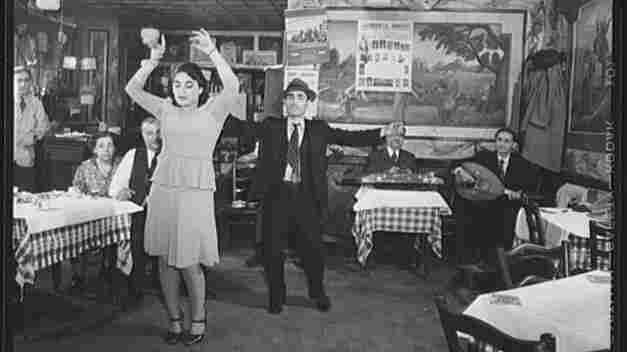 Allen Street, New York City's Lower East Side: Dancers in a Turkish club owned by Jo Levyon, December 1942. This photo is from the Library of Congress' American Memories project archive.