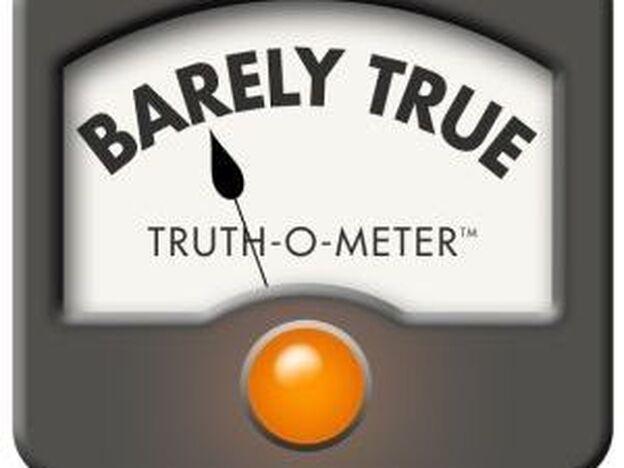 """PolitiFact's """"Barely True"""" rating.  (PolitiFact)"""